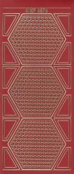 Stickervel donkerrood/goud XP6876 (Locatie: K098)