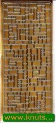Stickervel goud blokjes 1955 (Locatie: i273 )