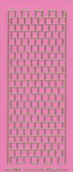 Stickervel roze/goud nr. 3020 (Locatie: K148)