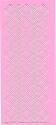 Stickervel roze/goud nr. 3022 (Locatie: K126 )