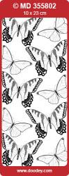 Stickervel transparant zilver vlinder MD355802 (Locatie: B093)
