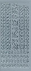 Stickervel zilver kerstballen MD357031 (Locatie: u098)