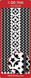 Stickervel zilver randje kerst DD7040 (Locatie: L178)