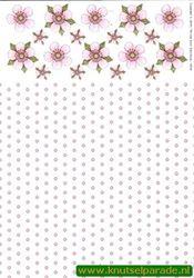 Tierelantijntje knipvel bloemen 3310 (Locatie: 4406)