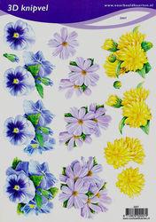 Voorbeeldkaarten knipvel bloemen 2007 (Locatie: 2693)