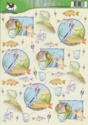 Voorbeeldkaarten knipvel vissen/hengels VBK2387 (Locatie: 2581)