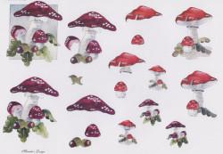 Wekabo knipvel paddestoelen rood nr 582 (Locatie: 2605)