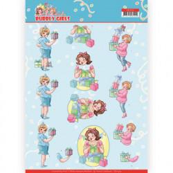 Yvonne Creations Bubbly Girls knipvel verjaardag CD11475 (Locatie: 2417)