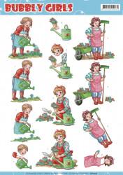 Yvonne Creations knipvel bubbly girls tuinieren CD11241 (Locatie: 4317)