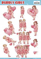 Yvonne Creations knipvel bubbly girls valentijn CD11444 (Locatie: 2244)