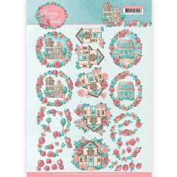 Yvonne Creations knipvel huisjes CD11291 (Locatie: 5518)