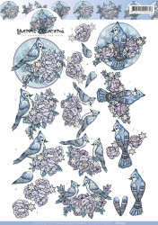 Yvonne Creations knipvel vogel CD10975 (Locatie: 0619)