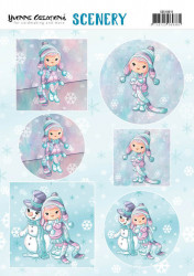 Yvonne Creations stansvel winter CDS10015 (Locatie: 2365)