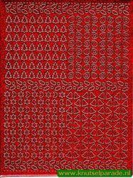 Multi dots sticker holografisch rood kerst (Locatie: 5949)