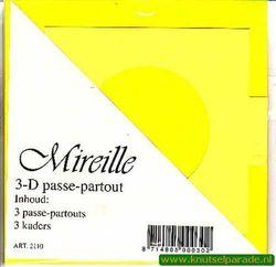 Mireille vierkante kaart geel 13,5 cm x 13,5 cm 3 stuks 2110 (Locatie: D92 )