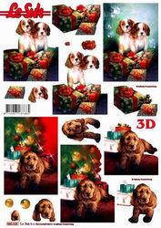 Le Suh stansvel kerstmis met hond 680026 (Locatie: 2351)