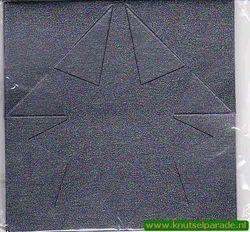 Mireille kaart donkerblauw ster 3 stuks met envelop (Locatie: L71 )