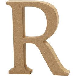 Letter R, hoogte 13 cm, dikte 2 cm, MDF, 1stuk (Locatie: KB)