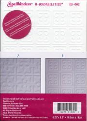 Spellbinders reversible embossing folder 2 designs EL-002 (Locatie: T139)
