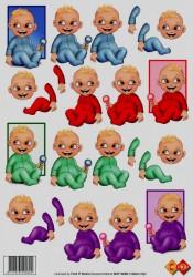 Card Deco knipvel baby MAT10006 (Locatie: 4626)