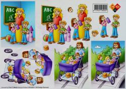 Card Deco knipvel school nr. CD10002 (Locatie: 5002)