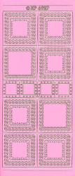 Stickervel roze hoeken XP6927 (Locatie: f127)
