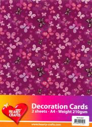 Decoratievel vlinders 2 vel / 210 gram HC763607 (Locatie: 4205)