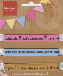 Marianne Design party product ribbons set PP1406 (Locatie: k3)