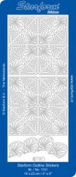 Starform stickervel hoeken zilver 1101 (Locatie: f109)