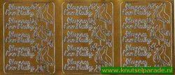 Sticker goud hoera een baby 9611 (Locatie: L140)