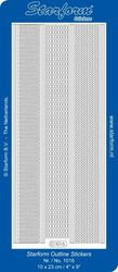 Starform sticker multi zilver randjes 1016 (Locatie: K227 )