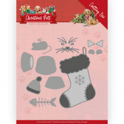 Amy Design snijmal Christmas Pets - Christmas Cat ADD10214 (Locatie: M040)
