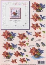 Ann's Paper Art knipvel bloemen met borduurpatroon 3DSS 10006 (Locatie: 5635)