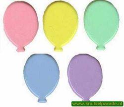 Brad ballonnen pastel 25 stuks 20811/004 (Locatie: K2)