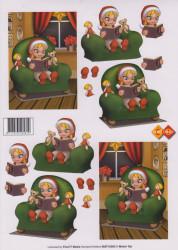 Card Deco knipvel kerstmis MAT10003 (Locatie: 1202)