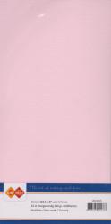 Card Deco linnen (13.5 x 27 cm), lichtroze, 10 stuks