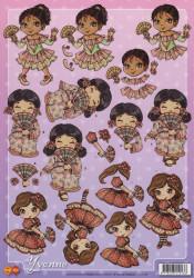 Card Deco Yvonne knipvel kinderen CD 10139 (Locatie: 2551)