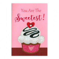 Craft Artist Diamond Art Card Kits - Cup Cake Sweetest (Locatie: 2576)