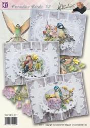 Creatief Art kaartenpakket Paradise Birds 02 SWK85-101 (Locatie: 4728)