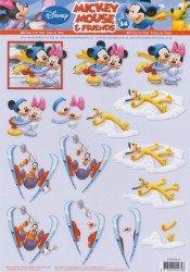 Disney knipvel Mickey Mouse & Friends STAPDIS34 (Locatie: 0526)