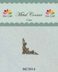 Dixi Craft Metal Corner 22x22 mm goud 10 stuks MC0014 (Locatie: B382 )