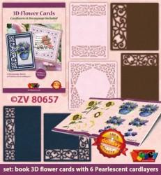 Doodey 3D-kaartenpakket bloemen met boekje en oplegkaarten ZV80657(Locatie: 4533)