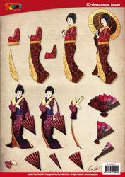 Doodey knipvel geisha parasol Oriental DV92504 (Locatie: 6735)