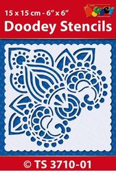 Doodey Stencil Boedha Hoekje 15 x 15 cm TS3710-01 (Locatie: 4630)