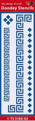 Doodey stencil Border Greek 10 x 30 cm TS5100-03 (Locatie: 4630)