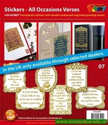 Doodey stickers set all occasions verses GS 652807 (Locatie: 1RB5 )