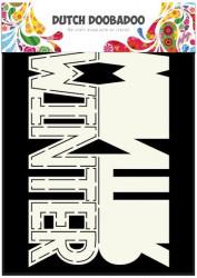 Dutch Doobadoo Card Art Text 'Winter' A5 stencil 470.713.642 (Locatie: 1347)