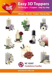 Hearty Crafts 3D Toppers Condolence Candles HC10307 (Locatie: K2)