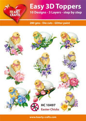 Hearty Crafts Easy 3D Toppers Easter Chicks HC10497 (Locatie: K2)