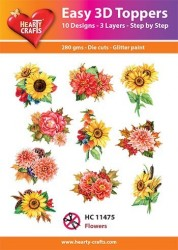Hearty Crafts Easy 3D Toppers Flowers HC11475